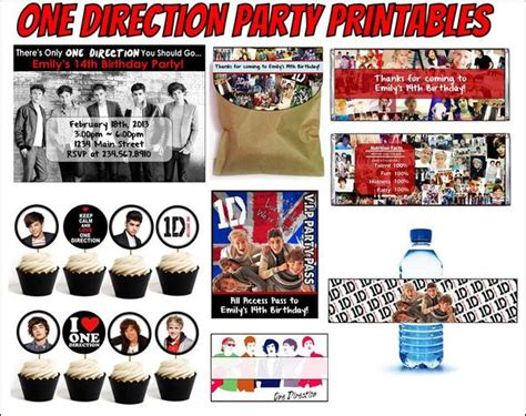 one direction printable gift tags one direction party printables editable partygamesplus