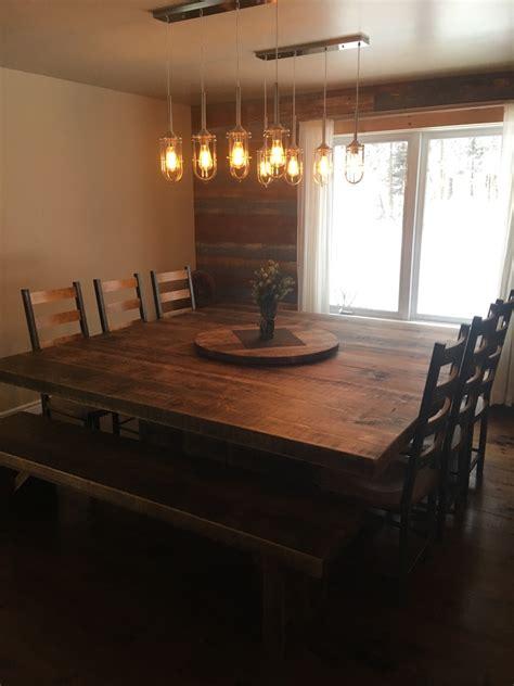 Table Cuisine Carr馥 - table carr 233 e bois de pin recycl 233 table sur mesure bois