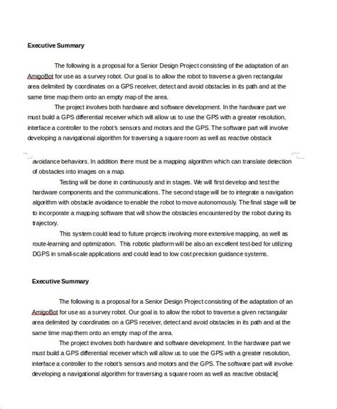 Executive Summary Template The Best Resume Microsoft Word Executive Summary Template