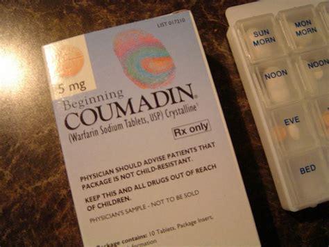 coumadin alimentazione cos 232 il coumadin le controindicazioni gli effetti