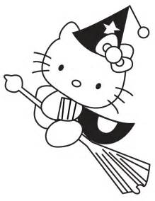 witch halloween coloring pages hello kitty coloring kids
