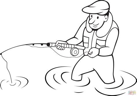 fisherman coloring page free printable coloring pages