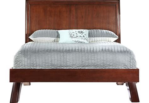 platform sleigh bed belcourt cherry 3 pc queen platform bed with sleigh
