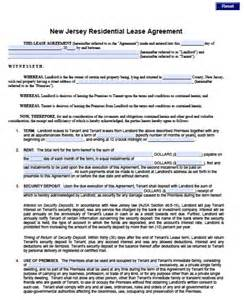 free new jersey standard residential lease agreement 1
