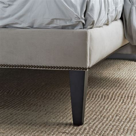 diy upholstered headboard with legs upholstered box spring with legs diy pinterest