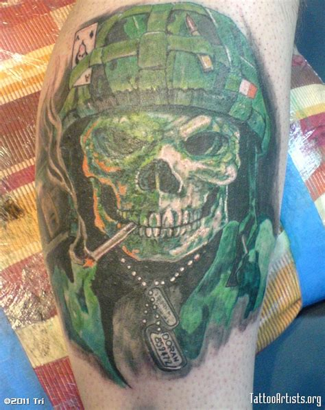 green tattoo ink army tattoos and designs page 23