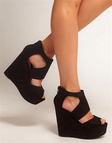 new look new look width platform wedge shoes at asos