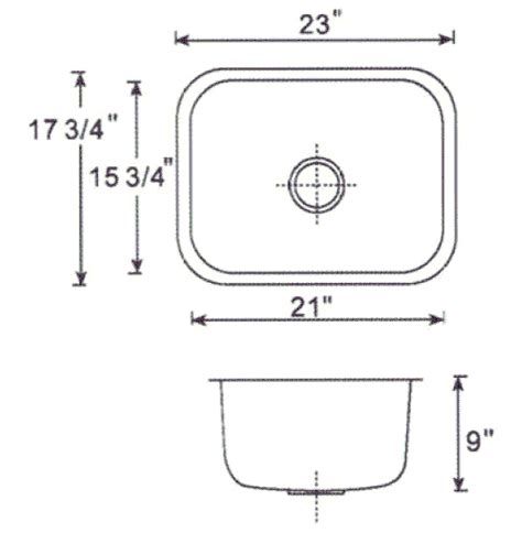 Model Standard Size Kitchen Sink