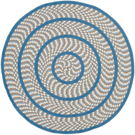 6ft Circular Rugs by Safavieh Cambridge Navy Blue Ivory 6 Ft X 6 Ft