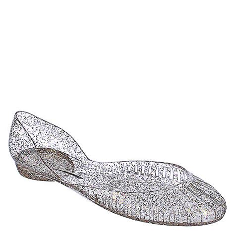 Jelly Flats Shoes 2 glaze womens alaska 5 clear glitter jelly flat shiekh shoes