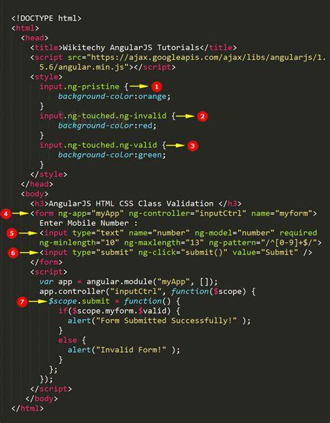 angularjs pattern validation angularjs validation css wikitechy