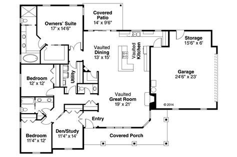 ranch home plan 3 bedrms 2 5 baths 2305 sq ft 108 1765