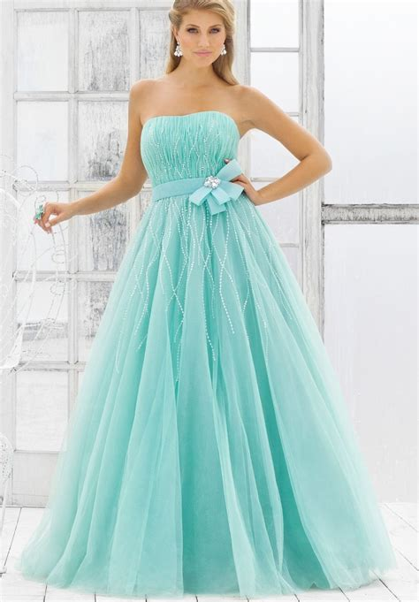 tulle strapless ball gown long prom dress outfit4girls com