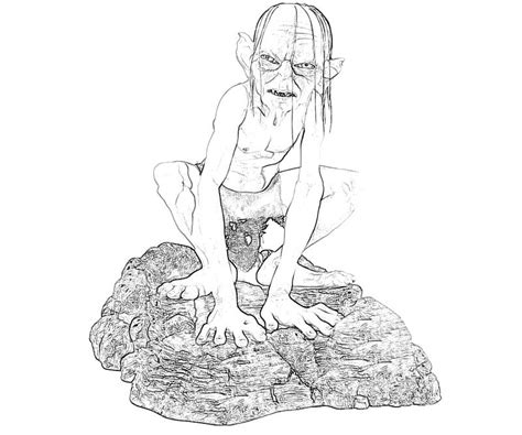 golum free coloring pages