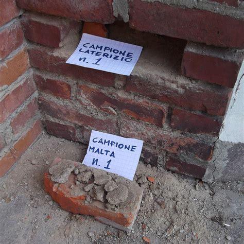 prelievo in prelievo di cioni per analisi della muratura