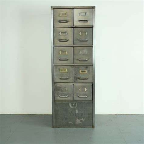 10 Drawer Filing Cabinet by Vintage Stripped Metal 10 Drawer Filing Cabinet Lovely