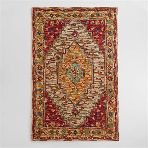 Zahra Caravan Tufted Wool Area Rug Multi 8 X 10 By 8 X 8 Area Rug
