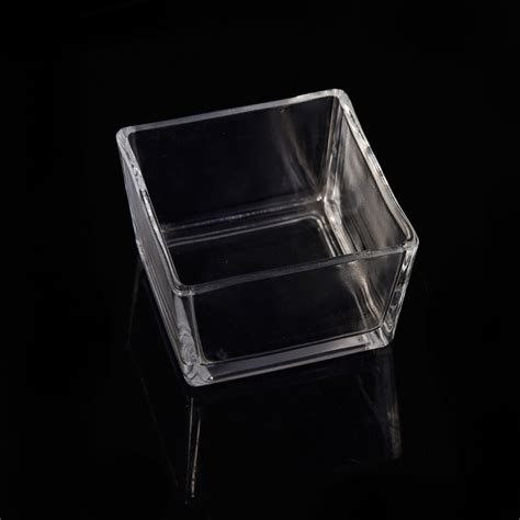 Square Glass Candle Holders by Clear Square Tealight Glass Candle Jar Wholesale Machine