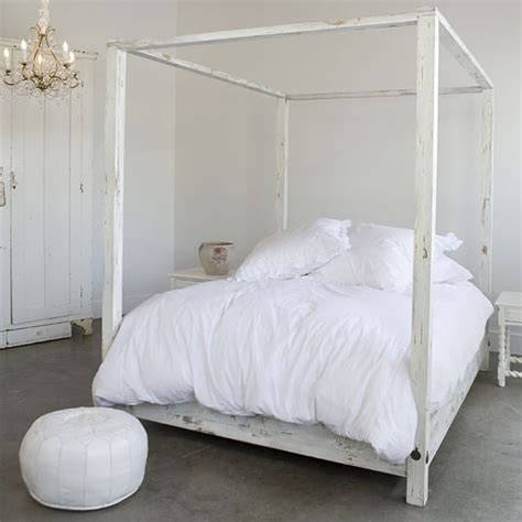 white bed house thinking canopy beds