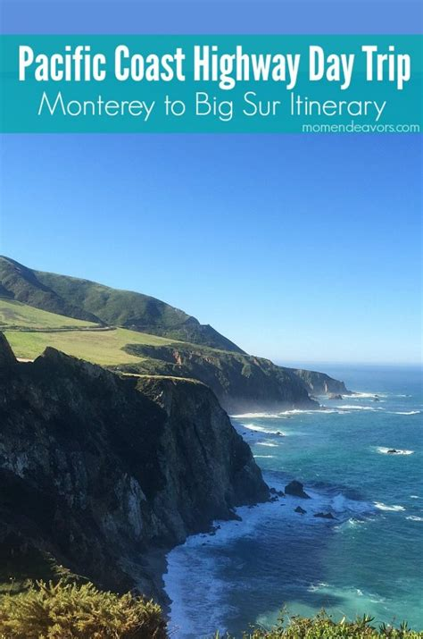 California Pch Itinerary - pacific coast highway monterey to big sur 1 day family travel itinerary