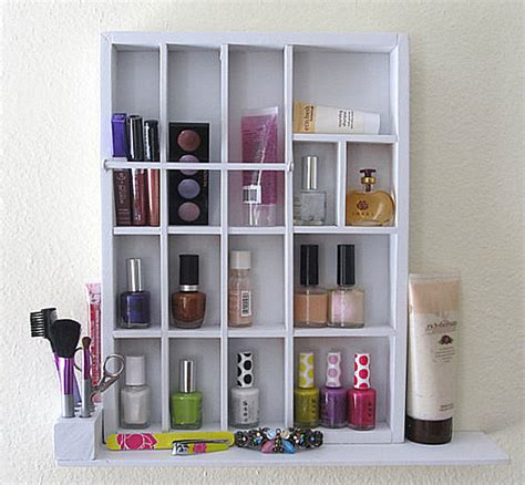 Shelf Organizing more makeup organizer ideas for a tidy display of products