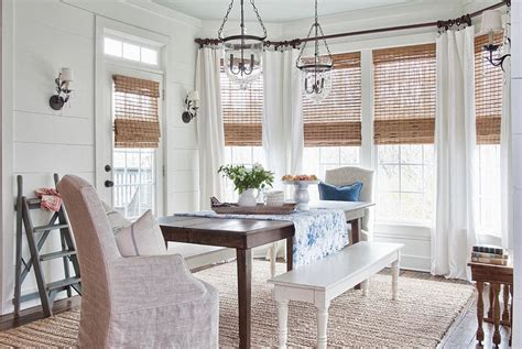 30 Unassumingly Chic Farmhouse Style Dining Room Ideas Dining Room Blinds