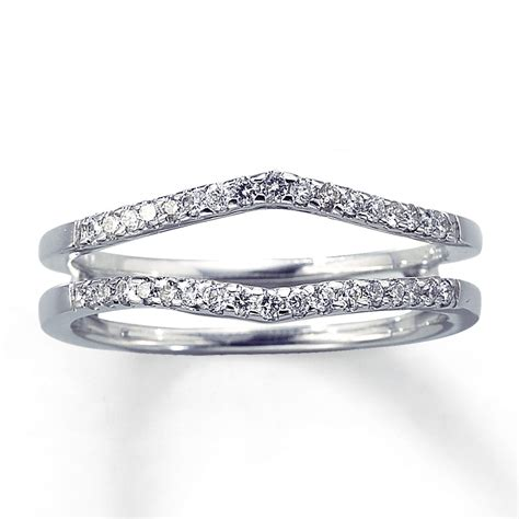 Wedding Rings Enhancers by Enhancer Ring 1 4 Ct Tw Cut 14k White Gold