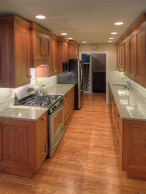 wide galley kitchen home design ideas pictures remodel