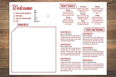 church bulletin templates for word free church bulletin templates 8 professionally designed