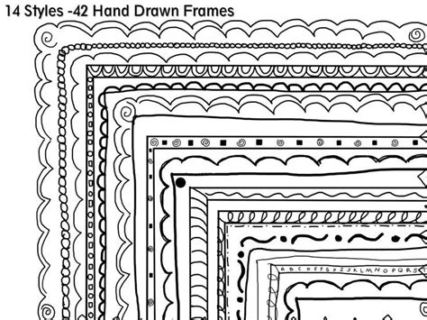 draw doodle free 42 black and white doodle frames commercial
