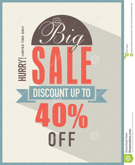 Sale Fliers Big Sale Flyer Banner Or Template Stock Illustration I