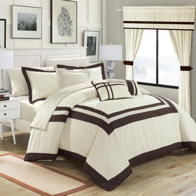 20 piece bedding set chic home bertran 20 piece comforter set bed bath beyond