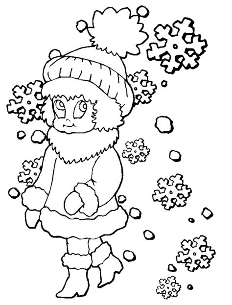 Winter Coloring Pages Coloringpages1001 Com Winter Time Coloring Pages