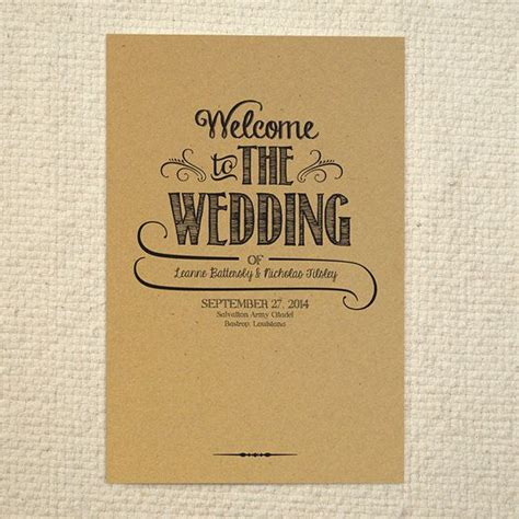 25 best ideas about order of service template on wedding program sles wedding