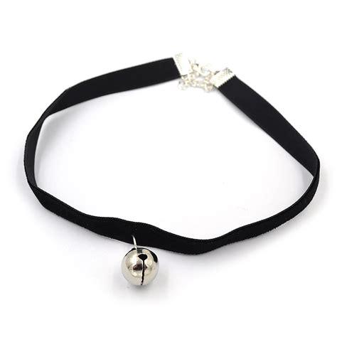 Bell Choker velvet choker bell charm pendant necklace retro
