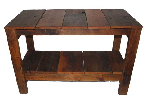 Plank Table by Reclaimed Wood Plank Table