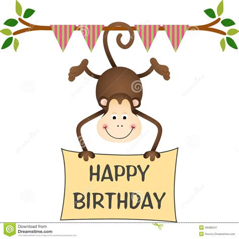 compleanno clipart happy birthday monkey clipart