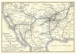 railroad maps the atchison topeka santa fe railroad and fred harvey