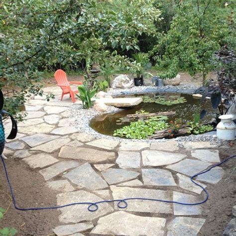 backyard flagstone flagstone backyard pond backyard ponds pinterest