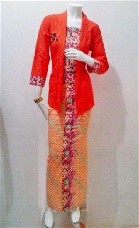 Setelan Kebaya Katun Tarya Orange batik bagoes model baju batik restock encim seri manohara