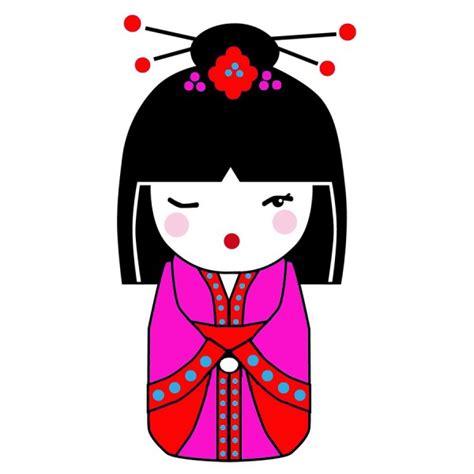 Japanese Kitchen Ideas - japanese doll cuadros y retratos personalizados alegres y divertidos de estilo pop art