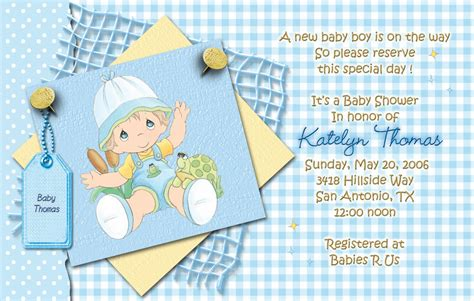Precious Moments Baby Shower Invitations by Blue Precious Moments Baby Shower Invitations