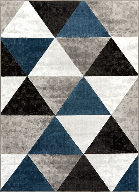 triangle pattern area rug arlo tiles blue modern triangle pattern area rug ruglots com