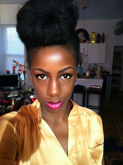 pics of black pretty big hair buns with added hair bglh 25 black girl with long hair