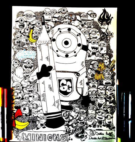 doodle minions minions by santanacruz on deviantart