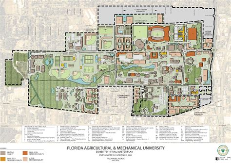 a m building map florida a m cus master plan urbanism