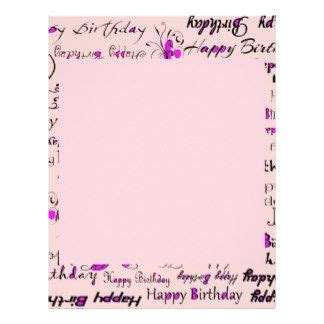 birthday letter template happy birthday flyer templates letter pink with
