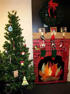 Fireplace Door Decorations by Door Decorating Cubicle Office