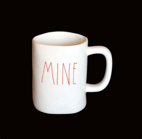 rae dunn mugs lrg rae dunn script white black red uneven unique mug