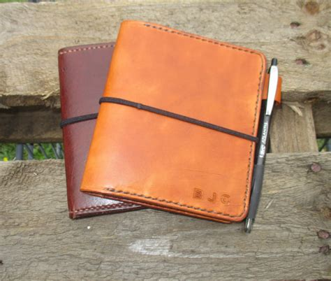 Handmade Leather Notebook Cover - personalized leather notebook cover custom handmade passport